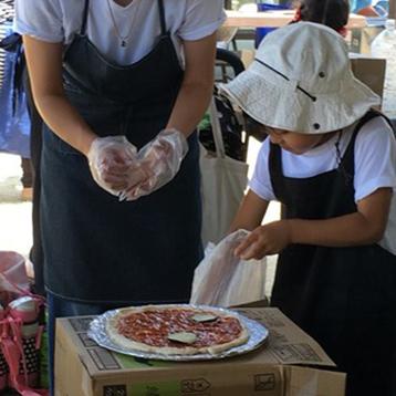 イメージ:ダンボールかまど作り&手作りピザ教室
